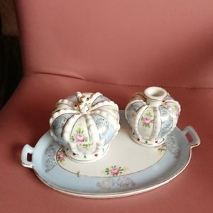 Other - Japan ceramic set of 3 tea accessories preowned